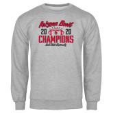 Grey Fleece Crew-2020 Arizona Bowl Champions