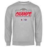 Grey Fleece Crew-2020 Arizona Bowl Champs
