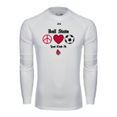Under Armour White Long Sleeve Tech Tee-Soccer Just Kick It