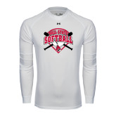 Under Armour White Long Sleeve Tech Tee-Softball Bats and Plate