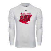 Under Armour White Long Sleeve Tech Tee-Swim & Dive Swimmer