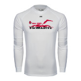 Under Armour White Long Sleeve Tech Tee-Swim & Dive Diver