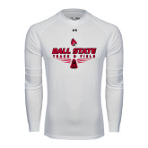 Under Armour White Long Sleeve Tech Tee-Track & Field