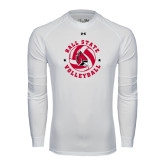 Under Armour White Long Sleeve Tech Tee-Volleyball Circle