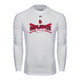Under Armour White Long Sleeve Tech Tee-Baseball Crossed Bats