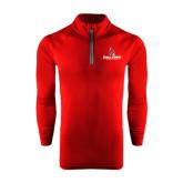 Under Armour Cardinal Tech 1/4 Zip Performance Shirt-Ball State Cardinals w/ Cardinal