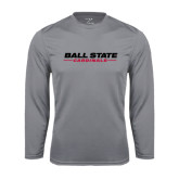 Performance Steel Longsleeve Shirt-Ball State Cardinals