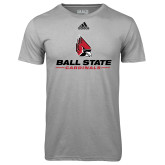 Adidas Climalite Sport Grey Ultimate Performance Tee-Ball State Cardinals w/ Cardinal