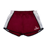 Ladies Maroon/White Team Short-Ball State Cardinals w/ Cardinal