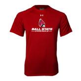 Under Armour Cardinal Tech Tee-Ball State Cardinals w/ Cardinal