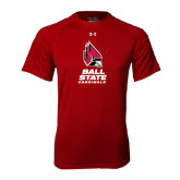 Under Armour Cardinal Tech Tee-Ball State Cardinals Stacked