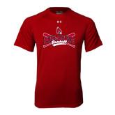 Under Armour Cardinal Tech Tee-Baseball Crossed Bats