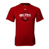 Under Armour Cardinal Tech Tee-Basketball Arched w/ Ball