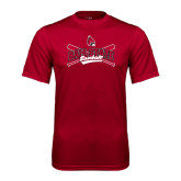 Performance Cardinal Tee-Baseball Crossed Bats