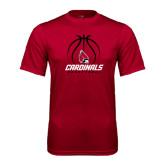 Performance Cardinal Tee-Cardinals Basketball Stacked