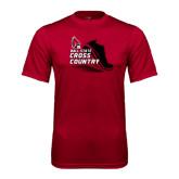 Performance Cardinal Tee-Cross Country Sneaker