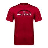 Performance Cardinal Tee-Ball State Football Horizontal