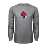 Grey Long Sleeve T Shirt-Cardinal