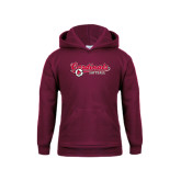 Youth Maroon Fleece Hoodie-Softball Script