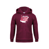 Youth Maroon Fleece Hoodie-Swim & Dive Swimmer