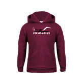 Youth Maroon Fleece Hoodie-Swim & Dive Diver
