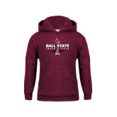 Youth Maroon Fleece Hoodie-Track & Field