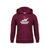 Youth Maroon Fleece Hoodie-Track & Field Side