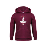 Youth Maroon Fleece Hoodie-Golf Stacked