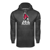 Under Armour Carbon Performance Sweats Team Hoodie-Ball State Cardinals Stacked