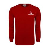 Cardinal Long Sleeve T Shirt-Ball State Cardinals w/ Cardinal