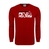 Cardinal Long Sleeve T Shirt-Field Hockey Player