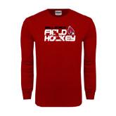 Cardinal Long Sleeve T Shirt-Field Hockey Player
