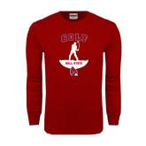 Cardinal Long Sleeve T Shirt-Golf Stacked