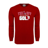 Cardinal Long Sleeve T Shirt-Golf Tee Off
