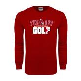 Cardinal Long Sleeve T Shirt-Golf Tee Off