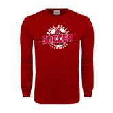 Cardinal Long Sleeve T Shirt-Soccer Circle