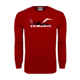 Cardinal Long Sleeve T Shirt-Swim & Dive Diver