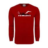 Cardinal Long Sleeve T Shirt-Swim & Dive Diver