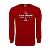 Cardinal Long Sleeve T Shirt-Track & Field