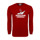 Cardinal Long Sleeve T Shirt-Track & Field Side