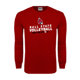 Cardinal Long Sleeve T Shirt-Volleyball Can You Dig It