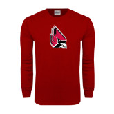 Cardinal Long Sleeve T Shirt-Cardinal