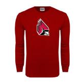 Cardinal Long Sleeve T Shirt-Cardinal