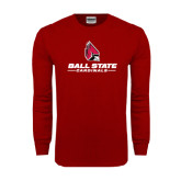 Cardinal Long Sleeve T Shirt-Ball State Cardinals w/ Cardinal