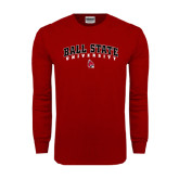Cardinal Long Sleeve T Shirt-Arched Ball State University