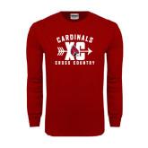Cardinal Long Sleeve T Shirt-Cross Country XC