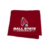 Cardinal Sweatshirt Blanket-Ball State Cardinals w/ Cardinal