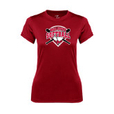 Ladies Syntrel Performance Cardinal Tee-Softball Bats and Plate