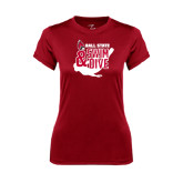 Ladies Syntrel Performance Cardinal Tee-Swim & Dive Swimmer