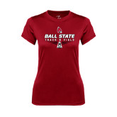 Ladies Syntrel Performance Cardinal Tee-Track & Field